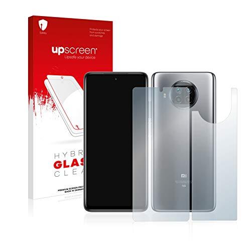 upscreen Hybrid Glass Panzerglas Schutzfolie kompatibel mit Xiaomi Mi 10T Lite (Vorder + Rückseite) 9H Panzerglas-Folie