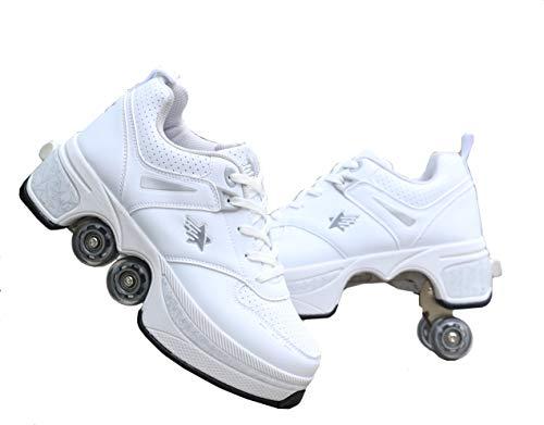 Deformation Parkour Roller Shoes 4-Wheels Parkour Children