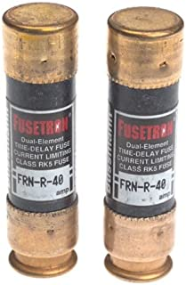 Bussmann BP/FRN-R-40 40 Amp Fusetron Dual Element Time-Delay Current Limiting Class RK5 Fuse, 250V Carded UL Listed, by Bussmann