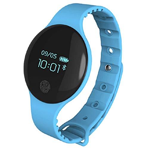 LTLJX Bluetooth Sportuhr, Wasserdicht Fitness Tracker Armband Uhr Wander Outdoor GPS Kalorienzähler kompatibles IOS und Android,Armbanduhr für Kinder Damen Herren,Blau