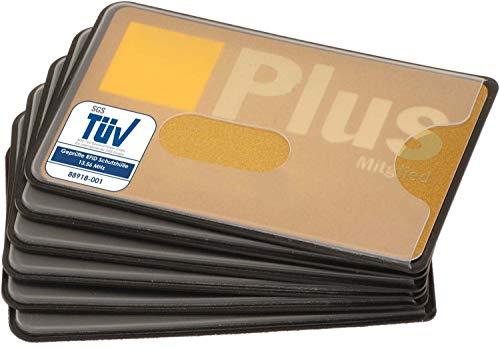 custodia carta contactless | 6x nfc protezione RFID | certificato | plastica | trasparente | custodia bancomat schermato | proteggi carte di credito contactless