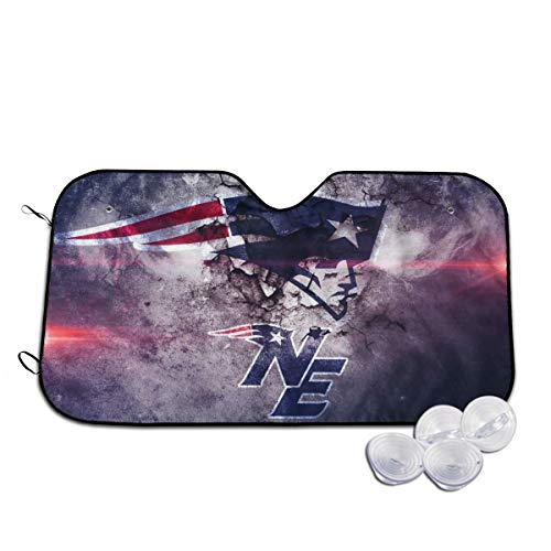 GAJzuiajg New England Patriots Car Windshield Awning Provides The Best UV Protection and Sun Protection, car Decoration Keeps The Vehicle Cool and Protects The Snowboard Inside The Vehicle