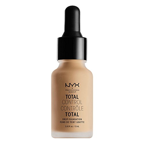 NYX Professional Makeup Base de maquillaje Total Control Drop Foundation, Dosificación precisa, Cobertura modulable, Larga duración, Fórmula vegana, Acabado mate, Tono: Medium Olive