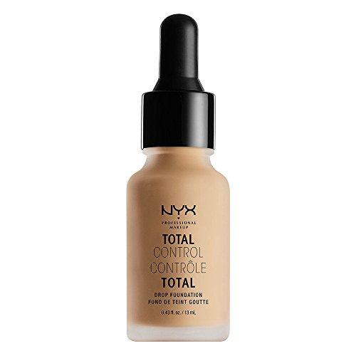 NYX Professional Makeup Base de Maquillaje Total Control Drop Foundation, de Larga duración, Cobertura Modulable y Acabado Mate, Fórmula vegana, Tono: Medium Olive