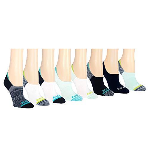 Saucony Damen-Socken mit unsichtbarem Innenfutter, 8 Paar - Blau -