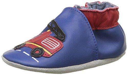 Robeez Firetruck, Chaussures de Naissance Mixte bébé, (Bleu Klein 53), 17/18 EU