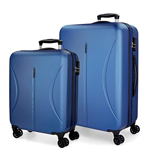 Roll Road Camboya Juego de maletas Azul 55/70 cms Rígida ABS Cierre combinación 111L 4 Ruedas Dobles Equipaje de Mano