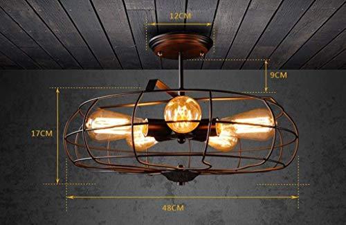 YSH Kronleuchter/Deckenleuchten/Lampe, Deckenventilator Retro Luminous Restaurant Lounge Hauslampen Und Laternen Creative Studio Nostalgische Treppe Des Ganges 5 Kopf E27 Mode,#1