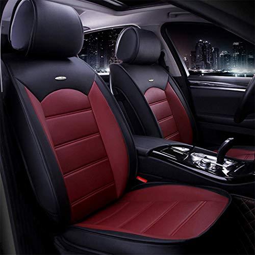 Maidao Fundas de asiento de coche personalizadas para Citroen Berlingo 2011 – 2015 Protector de asiento delantero Airbag compatible con fundas de piel sintética impermeable resistente al desgaste