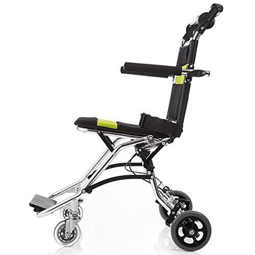 Unbne Pflegewagen Leichter Rollstuhl Falten Hand Push Reise Handbuch Rollstuhl Behinderte Person Tragbare Ältere Roller Kinder Freizeit Sport Rollstuhl