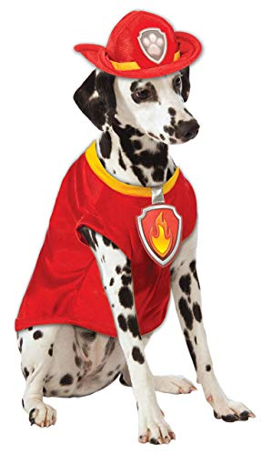 Paw Patrol Marshall The Fire Dog Pet Fancy Dress Costume Small