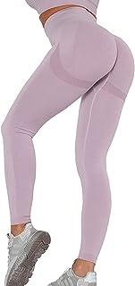 Peer Women's High Waist Contour Seamless Sport Workout Scrunch Leggings Yoga Pants Non See Through Butt Lifting Squat proo...
