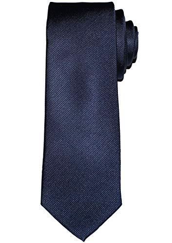 OLYMP Krawatte slim aus reiner Seide mit Nano-Effekt blau