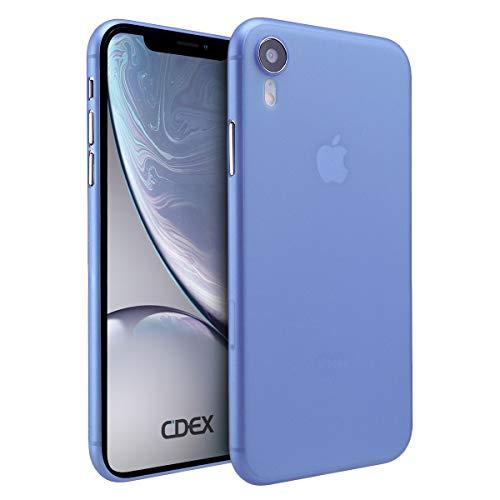 doupi UltraSlim Funda para iPhone XR (iPhone 10r) 6,1 Pulgada, Finamente Estera Ligero Estuche Protección, Azul