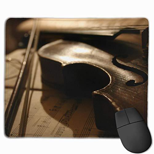 Drempad Alfombrillas De Ratón Custom, Mouse Pad Violin Rectangle Non-Slip 11.8