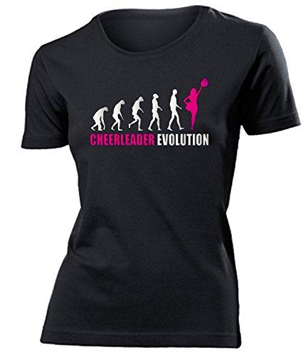 Cheerleader Evolution Geburtstag Geschenke Damen Frauen t Shirt Tshirt t-Shirt Bekleidung Oberteil Hemd Kleidung Outfit Artikel Tanzsport Football Cheerleading