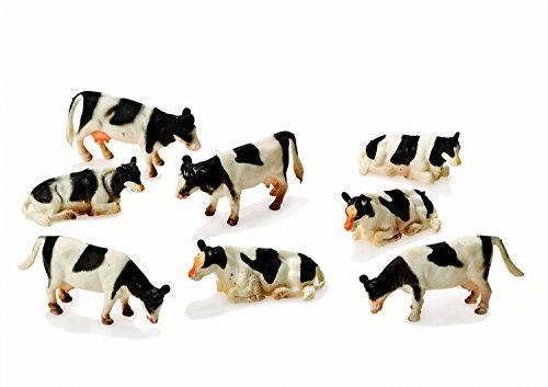 Van Manen 571878 - 8 Kühe 1:87 schwarz/weiß