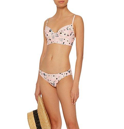 Proenza Schouler Bustier Bikini Swimsuit Set Ballet Pink Multi (S)