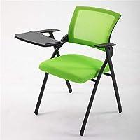 図面デザイン 折りたたみオフィスチェア、屋内使用オフィス会議室、メッシュ背もたれ椅子多機能表ボードを搭載したコンピュータチェア オフィスの必需品 (Color : E, Size : 47*47*88CM)