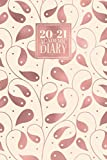2020 - 2021 Academic Diary: Daily Mid Year Student Planner Lined Writing Journal | A5 Full Day on a Page to View DO1P Aug 20 - Jul 21 | Rose Gold Tangled Vines (2020 - 2021 A5 Academic Daily Diaries)