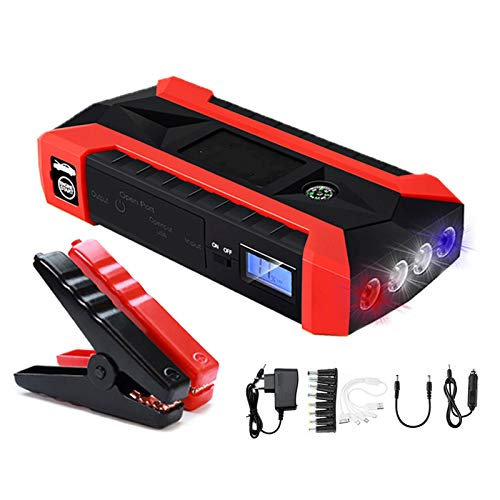 Best Buy! WQYRLJ 68000 Mwh 12V Car Jump Starter for Up to 6.0L Gas Or 2.5L Diesel Engines Car Batter...
