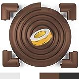 Weicher Kantenschutz von BEARTOP | weiß, schwarz, braun | starker Tesa Kleber | schützt Babys, Kinder & ältere Menschen | für Tische, Platten, Kommoden | ZUFRIEDENHEITSGARANTIE (3 Jahre)*