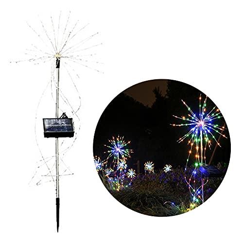 DEDEMCO - Luci decorative per fuochi d'artificio a energia solare, IP65, impermeabile, filo di rame colorato, a forma di palla di terra, con telecomando per decorazione da cortile