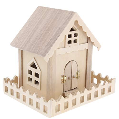 HomeDecTime Bird Products Cage De Perroquet Accessoires Box House en Cèdre Cabane en Rondins Birdhouse