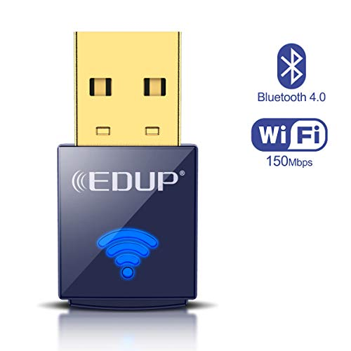 EDUP USB Bluetooth WiFi Adapter, Wireless Nano USB Netzwerkadapter für Laptop Desktop PC Wi-Fi Dongle Kompatibel mit Windows 10/7/8 / 8.1 / XP Mac OS X 10.6-10.15.3