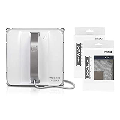 ECOVACS WINBOT 850 Automatic Window Cleaning Robot - All-in-One Bundle with Two Accessory Kits