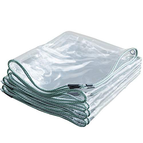 QINDING Lona transparente resistente al agua, universal, resistente al polvo, PVC, doble cara, impermeable, con ojales para patio, invernadero, camping, jardinería, 1,2 x 3 m