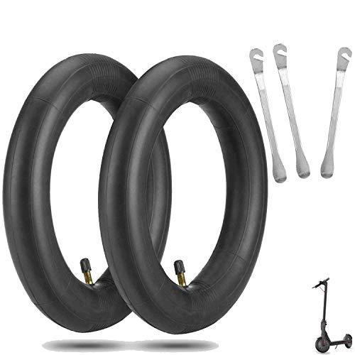 ELKATECH | 2 camara de aire xiaomi m365 y M365pro con 3 desmontes neumáticos, equivalente a ruedas macizas xiaomi m365 pinchables | Grosor: 2 mm | Repuesto neumático para rueda delantera y trasera