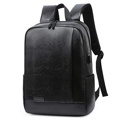 LJIEI mochila de los hombres y las mujeres bolsa de deportes de la juventud de la escuela bolsa simple de cuero de la
