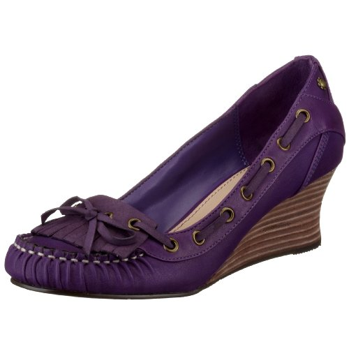 ESPRIT Felisa Wedge Fringe A10345, Damen Pumps, violett, (purple 505), EU 41