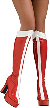 Rubie's Official Ladies Wonder Woman Boots Knee High for 6-7 Years, Adult Costume - Medium