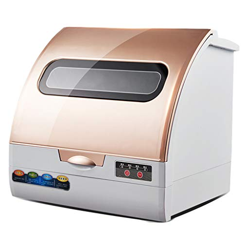 Lavavajillas de encimera Compacto, Doble secador de lavavajillas Inteligente para la Oficina del apartamento y la Cocina del hogar, fácil de Limpiar, Lujoso Panel táctil
