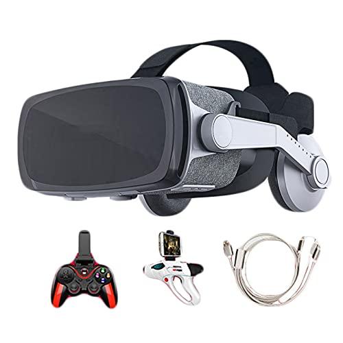 YDZSBYJ Cuffie VR, Occhiali Virtuali di Realtà 3D all-in-One per Smartphone Universali Android, Regolabili Compatibili con Occhiali HD da 4,7-6,0 Pollici per Film Videogiochi