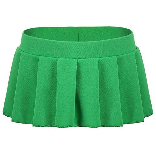 Avidlove Avidlove Mini Rock Schulmädchen Skirt Damen Kurz Minirock Röcke Frauen Sexy Dessous Solid gefaltet Nachtwäsche Reizvolle