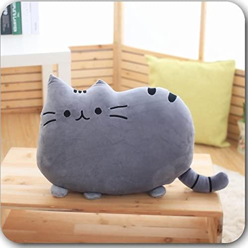 Kawaii Cat Pillow with PP Cotton Inside Biscuits Shape Kids Toys Doll Plush Baby Toys Funda de cojín Grande Regalo para Amigos Niños 40x30cm Gris