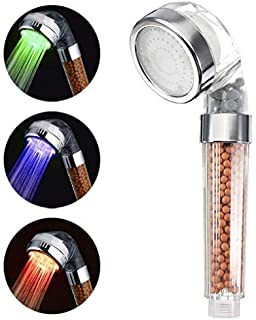 YOMYM LED Shower Head, Temperature Controlled High-Pressure & Showerhead, Negative Ionic Showerhead Double Filter Remove H...