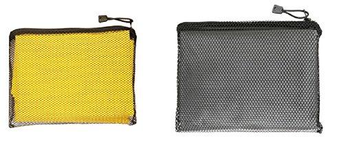 Totes 2 Pack Waterproof Rain Ponchos (Smoke & Yellow, One Size)