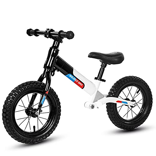 tquuquu Bicicleta De Equilibrio para Niños, Juguete para Montar En Bicicleta De Altura Ajustable Scooter De Dos Ruedas Sin Scooter De Pedal Adecuado para Bebés De 2 A 6 Años