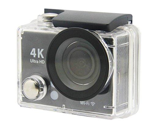 NAXA Electronics NDC-406 Waterproof 4K Action Camera, Shiny Black (NDC-406)