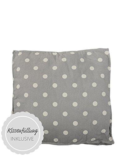 Bloomingville Outdoor - Box kussen - Katoen - Grijs/Wit