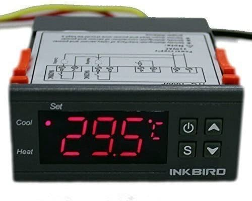 Inkbird ITC-1000 Heat and Cool Temperature Controller for Home Brewing Aquarium Hatching Greenhouse (ITC-1000 240V)