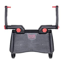 Compatible with 99% of pushchairs Suitable for children from 2 years to 20kg (44lbs) Easy to fit to your pushchair with the included universal connectors The BuggyBoard Mini has an anti-slip platform, large wheels with built-in suspension for a smoot...