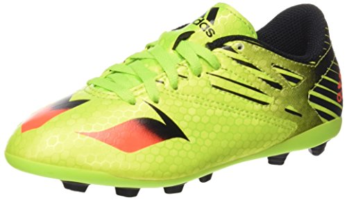 adidas Jungen Messi 15.4 FG J Fußballschuhe, Grün (Semi Solar Slime/Solar Red/Core Black), 38 2/3 EU