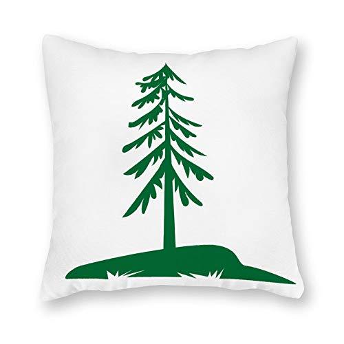 qidushop Funda de almohada de lona, para exteriores, diseño de abeto, 45,7 x 45,7 cm, decoración del hogar para sofá
