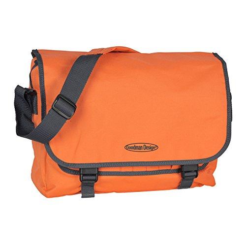 Praktische Umhängetasche/sehr robust : Tasche - mit Goodman Logo - Schultasche/Schultertasche - Farbe: orange/grau