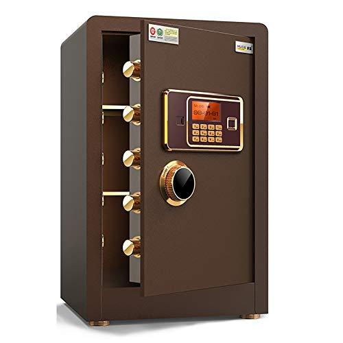 Pistol Veilig, brandvrije kluis en Waterproof Veilige Feet Password Safe 60CM Thuis Password Safe Small Alarm Safe Office Smart Anti-Theft Cabinet,Brown